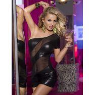 Клубное платье с открытым плечом черное-XL