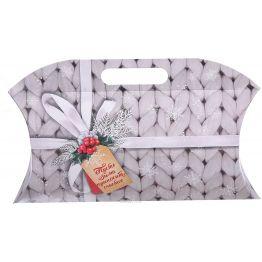 Коробка подарочная Пусть зима приносит счастье, 34 × 28,5 × 7,5 см