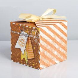 Коробка складная Много поводов для счастья, 12 × 12 × 12 см