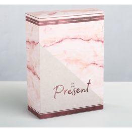 Складная коробка Мрамор, 16 × 23 × 7,5 см
