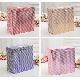 Пакет-коробка с клапаном Геометрия, ламинированный, 27 х 13 х 27 см, МИКС