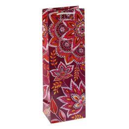 Пакет подарочный под бутылку Арабеска , 36 х 12 х 8.5 см   1929138