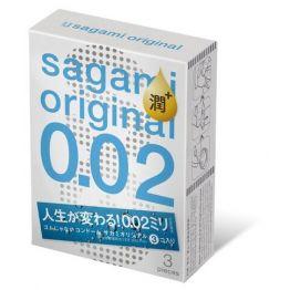 Презервативы SAGAMI Original 002 полиуретановые EXTRA LUB 3шт.