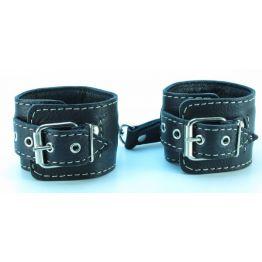 Кожаные наручники черные 51022ars