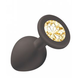 Анальная пробка Emotions Cutie Medium Black  golden crystal 4012-07Lola