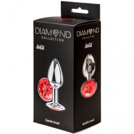 Анальная пробка Diamond Red Sparkle Small 4009-06Lola