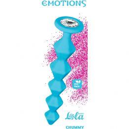 Анальная Цепочка с Кристаллом Emotions Chummy Turquoise 1401-02lola
