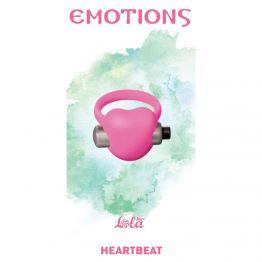 Эрекционное виброколечко Emotions Heartbeat Light pink 4006-02Lola