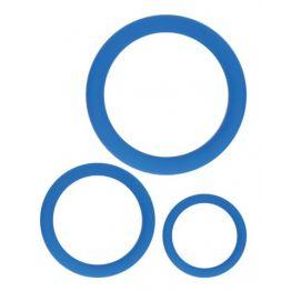 КОЛЬЦО ЭРЕКЦИОННОЕ цвет синий, набор 3 шт арт. SF-70242-13
