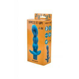 Анальная пробка с вибрацией Spice it up Naughty Aquamarine 8012-03Lola