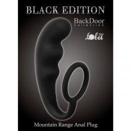 Анальный стимулятор с эрекционным кольцом Mountain Range Anal Plug Black 4218-01Lola