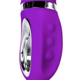 Нереалистичный вибратор JOS PILO с WOW-режимом LIMITED EDITION!, силикон, фиолетовый, 20 см, Ø 3,5 с