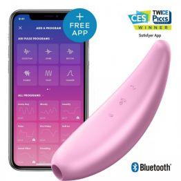 Вакуум-волновой бесконтактный стимулятор клитора Satisfyer Curvy 3+, Силикон, Розовый, 14,5 см