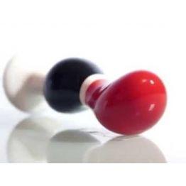 Анальный стимулятор CERAMIX NO 3 керамическая черно-красный