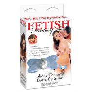 Электростимулятор клитора Shock Therapy Butterfly Stim голубой