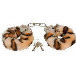 Наручники металлические Furry Love Cuffs с мехом Тигр