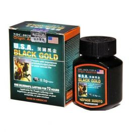 Таблетки Чёрное золото (USA Black Gold) для потенции, BlackGold цена за 1 шт.