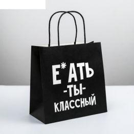 Пакет подарочный Ты классный, 22 × 22 × 11 см    4711593