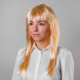 Карнавальный парик Блондинка, прямые волосы с чёлкой, 120 г