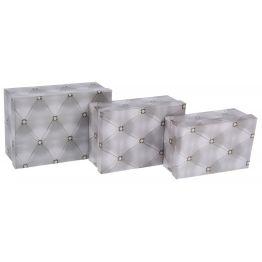 Коробка Ромбики, цвет серый,