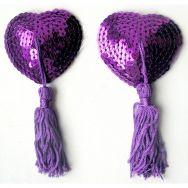 ПЭСТИСЫ цвет фиолетовый, (текстиль) арт. MLF-90004-5