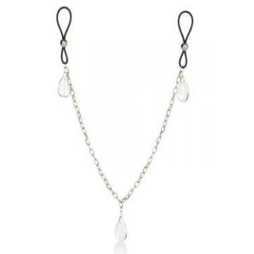 Зажимы на соски Nipple Play Non-Piercing Nipple Chain Jewelry - Crystal