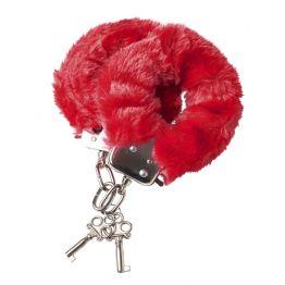 Наручники меховые красные 951028