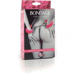 Наручники с кристаллами BONDAGE розовые 1011-03Lola