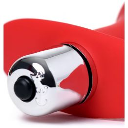 Анальная вибровтулка ToDo by Toyfa Glam, силикон, красная, 9,7 см, Ø 4 см