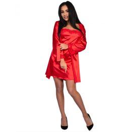 Пеньюар, сорочка  и трусики Jacqueline красный (S/M, красный)