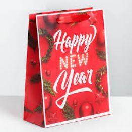 Пакет ламинированный вертикальный Happy New Year, MS 18 x 23 × 8 см
