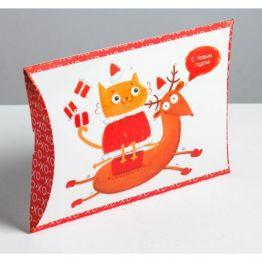 Коробка сборная фигурная Подарки, 26 × 19 × 4 см