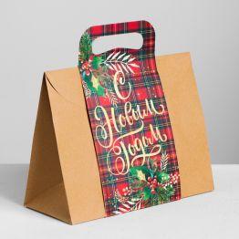 Пакет подарочный Happy NY, MS 23 × 18 × 10 см