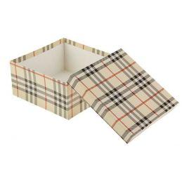 Коробка Шотландка бежевая-3