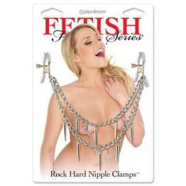 Зажимы на соски Fetish Fantasy Series Rock Hard Nipple Clamps - Silve 3624-26