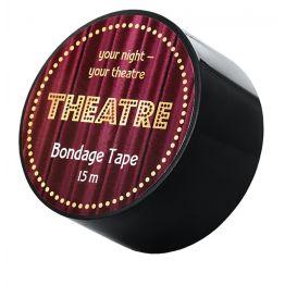 Бондажный скотч TOYFA Theatre, чёрный, 15 м. 704025
