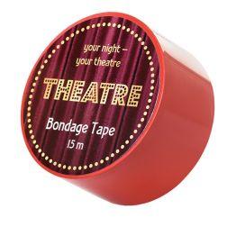 Бондажный скотч TOYFA Theatre, красный, 15 м.704026