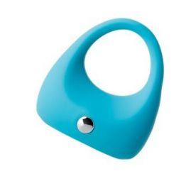 Эрекционное кольцо на пенис TOYFA A-Toys, Силикон, Голубой, Ø5,2 см
