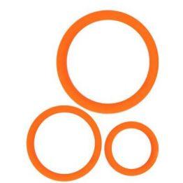 КОЛЬЦО ЭРЕКЦИОННОЕ цвет оранжевый, набор 3 шт арт. SF-70242-08