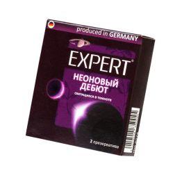 Презервативы Expert Неоновый дебют №2, светящиеся в темноте, 2шт
