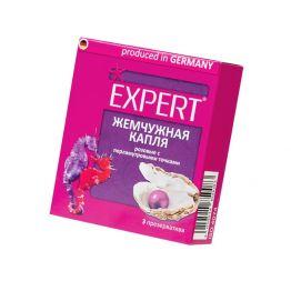 Презервативы Expert Жемчужное капля №3, розовые с перламутровыми точками, 3шт