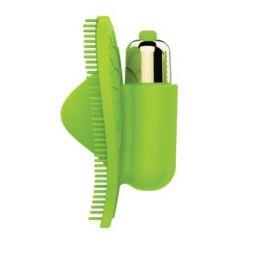 ВИБРОМАССАЖЁР L 80 мм ширина 55 мм, цвет зелёный арт. ST-40142-7