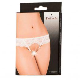 Эротические трусики Erolanta Lingerie Collection кружевные, белые 741202 (42-44)