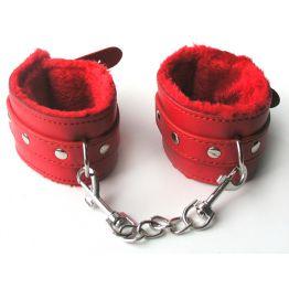 НАРУЧНИКИ цвет красный, (текстиль) арт. MLF-90042-3
