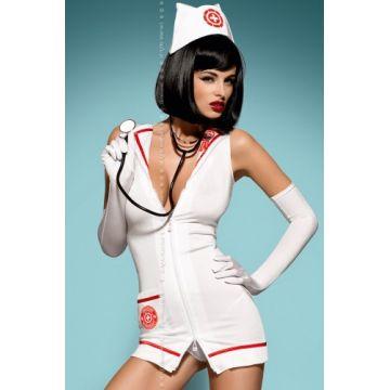 Костюм Emergency dress + стетоскоп (S-M, белый)