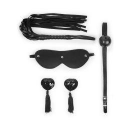 НАБОР (маска, кляп, пэстисы, плётка) цвет чёрный арт. NTB-80610