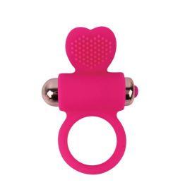 КОЛЬЦО ЭРЕКЦИОННОЕ С ВИБРАЦИЕЙ D 30 мм, цвет ярко-розовый арт. ST-40133-16