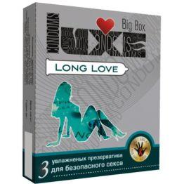 ПРЕЗЕРВАТИВЫ LUXE LONG LOVE ПАНЕЛЬ 3 штуки