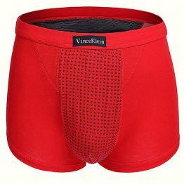 Магнитные боксеры XL  (для роста 160-195 см, вес 80-95 кг) красные Vince Klein