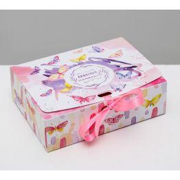Складная коробка подарочная Приятных моментов, 16.5 × 12.5 × 5 см